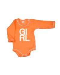 Body dlhý rukáv Antony - Girl - oranžové