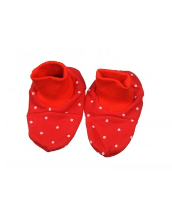 Bavlnené papučky Antony - Bodka - červené