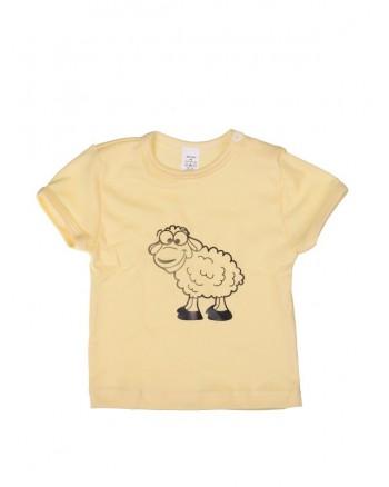 Tričko krátky rukáv - Ovečka - žlté
