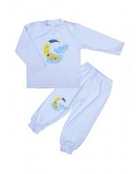 Pyžamo Antony Macko na mesiaci - modré