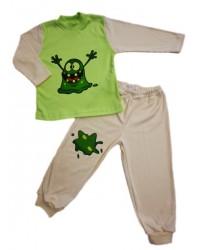 Pyžamo Antony - strašidlo - zeleno-smotanové