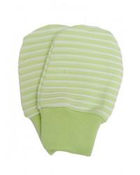 Kojenecké rukavičky Antony (pásik) - zelené