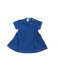 Letné šaty Antony - bodka - modré