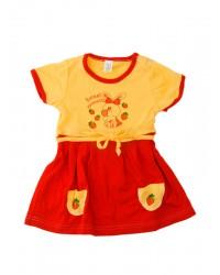 Letné šaty Antony (Jahôdky) - červené