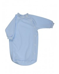 Bavlnený spací vak Antony (jednofarebný) - modrý