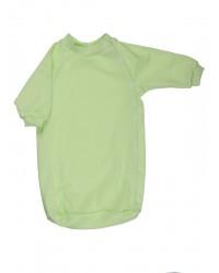 Bavlnený spací vak Antony (jednofarebný) - zelený