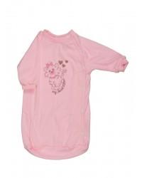 Bavlnený spací vak Antony - Mačička - ružový