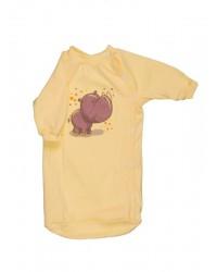 Bavlnený spací vak Antony - Nosorožec - žltý
