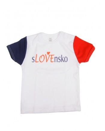 Tričko Antony krátky rukáv (biele) - SLOVENSKO 7