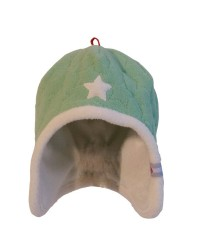 Čiapka Lodger Fleece Stars Anise 3-6m