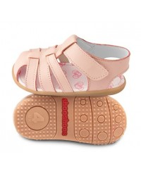 Kožené sandálky Shooshoos NEW - Peach Fuzz - 22