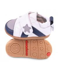 Kožené topánočky Shooshoos - White Grey Sneaker