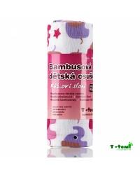 Bambusová osuška T-tomi - Ružoví sloni