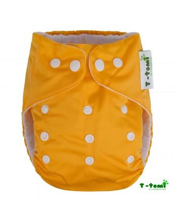 Plienkové nohavičky T-tomi All in One + 2 bambusové vkladacie plienky - Žltá