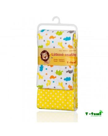 Flanelové osušky T-tomi - Žltá Afrika