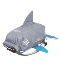 Nepremokavý ruksak Trunki - Žralok (šedý 10L)