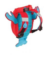 Nepremokavý ruksak Trunki - Morský rak (červený 7.5L)
