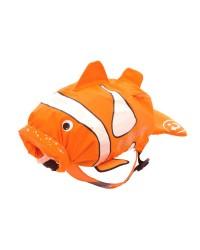 Nepremokavý ruksak Trunki - Klaun očkatý (oranžový 7.5L)